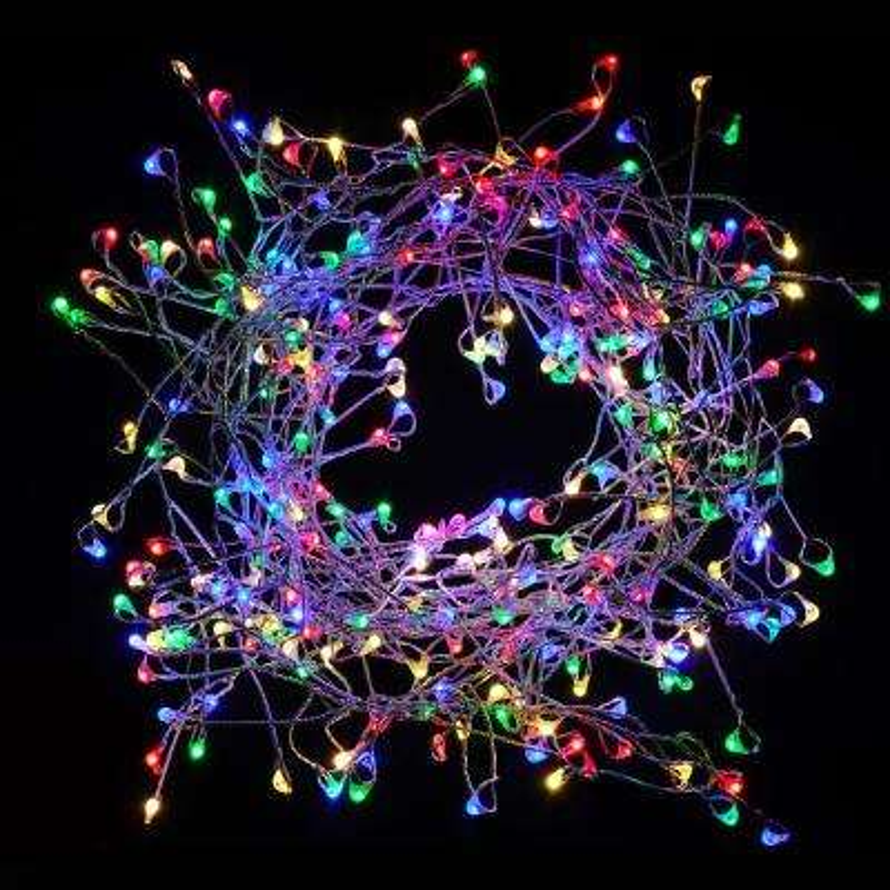 300-Lights LED Multi-Color Electric Firecracker Fairy String Lights