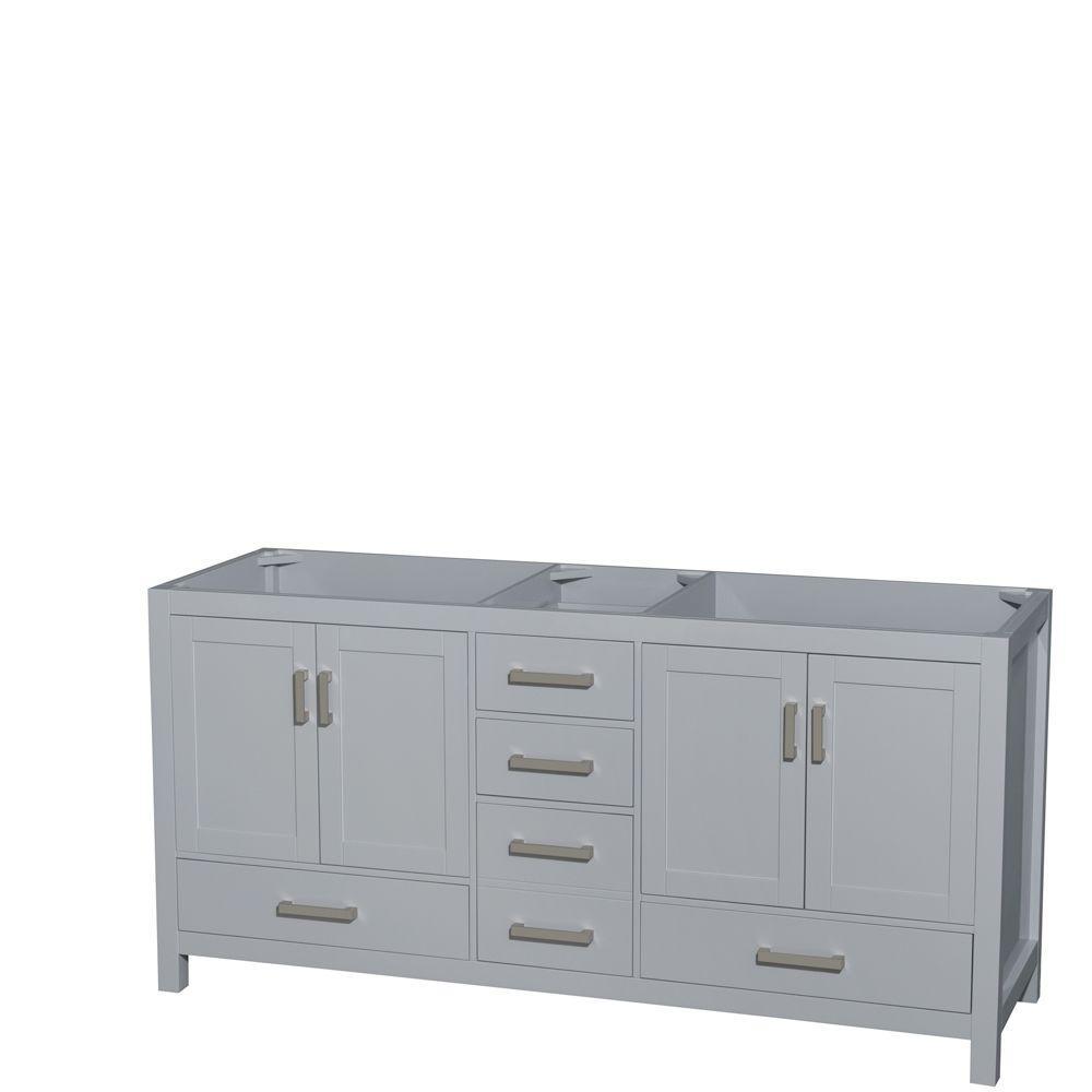 Sheffield 72 in. W x 22 in. D Vanity Cabinet in Gray
