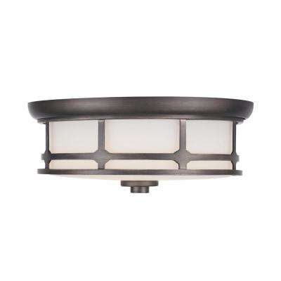 75-Watt Equivalence Satin Silver Integrated LED Flush Mount