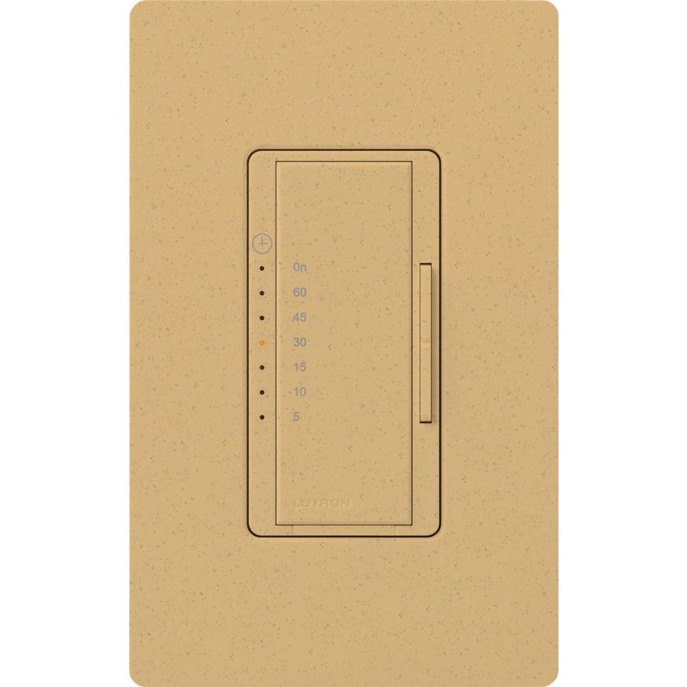 Lutron Maestro 600-Watt/VA Multi-Location/Single-Pole Countdown Timer Switch - Goldstone