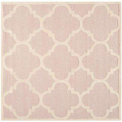 Cambridge Light Pink/Ivory 8 ft. x 8 ft. Square Area Rug