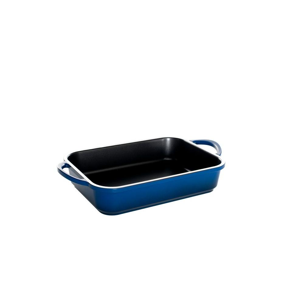 Nordic Ware Pro Cast Traditions Enameled Cast Rectangular Baker 9 x 13 - Midnight Blue