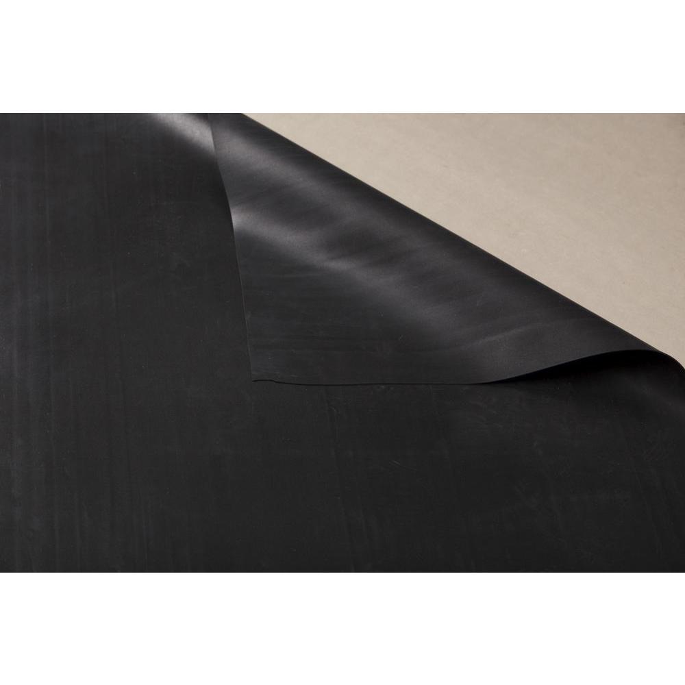 Gentite W59gt10125 10 Ft X 25 Ft Black Epdm Rubber
