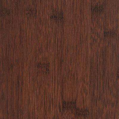Take Home Sample - Wire Brushed Auburn Bamboo Vinyl Plank Flooring - 5 in. x 7 in.