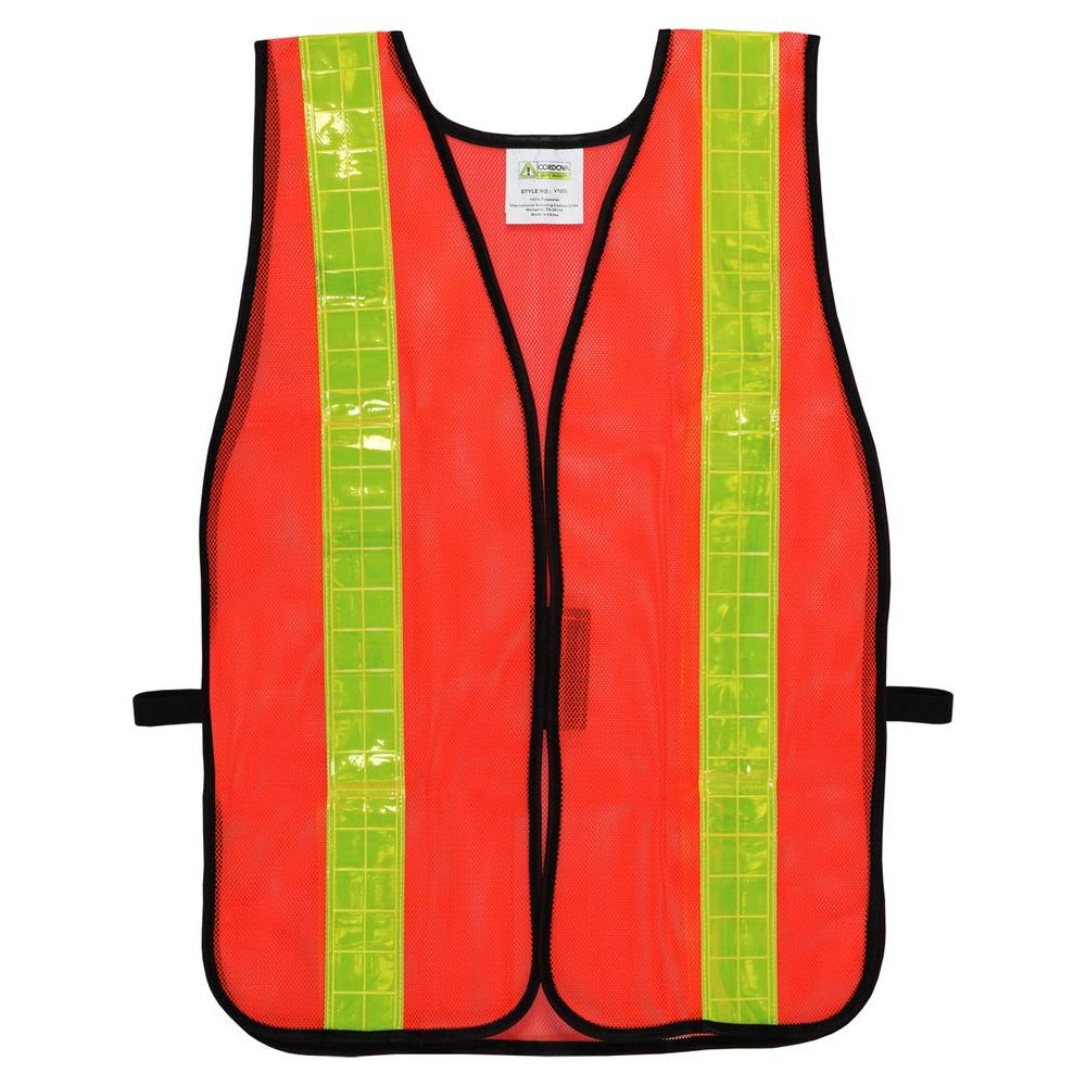 8cc8d6296c32 Cordova High Visibility Orange Mesh Safety Vest (One Size Fits All ...