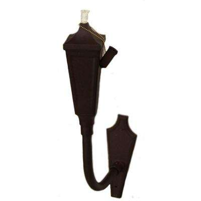Pair of Weathered Brown Die Cast Aluminum Patio Sconces (2-pack)