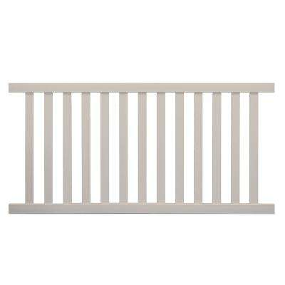 Captiva 4 ft. H x 8 ft. W White Vinyl Pool Fence Panel