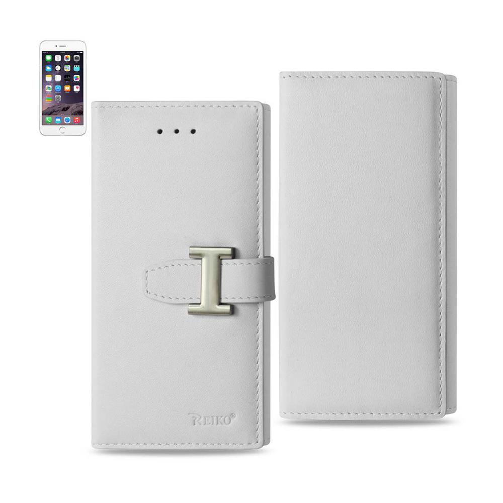san francisco c9d17 ac548 REIKO iPhone 6 Plus/6S Plus Genuine Leather Design Case in Ivory