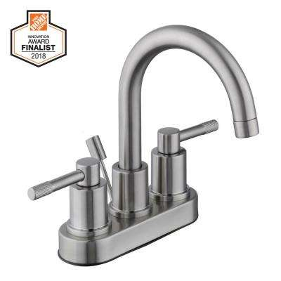 Axel 4 in. Centerset 2-Handle High-Arc Bathroom Faucet in Brushed Nickel