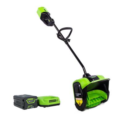 Greenworks Pro 60-Volt 12 in. Cordless Electric Snow Shovel w/ 4.0 Ah Battery - Charger Included