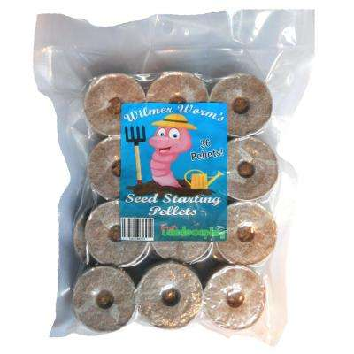 42 mm Wilmer Worm's Seed Starting Pellets (36-Pack)