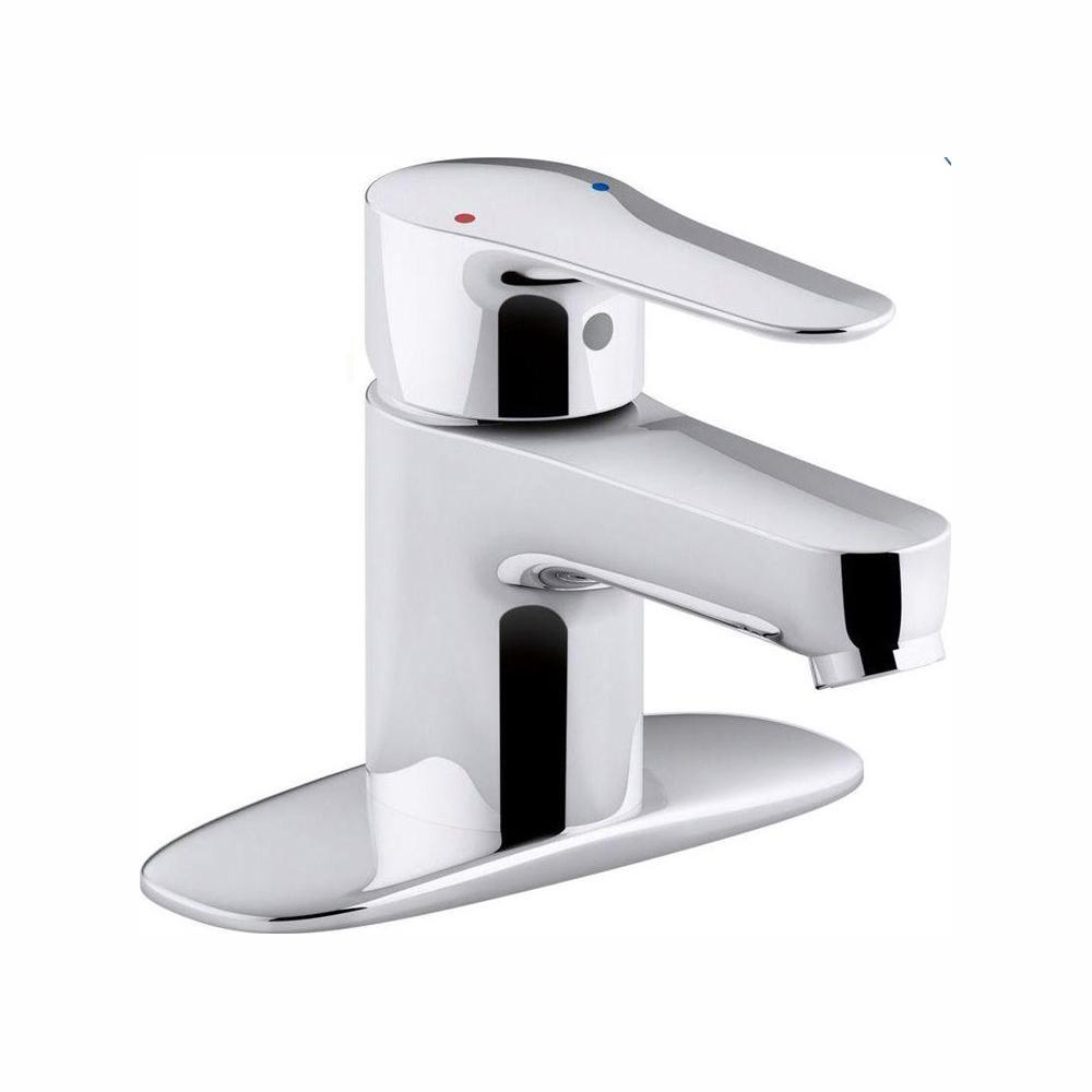 July Single Hole Single-Handle Low-Arc Water-Saving Bathroom Faucet in Polished Chrome