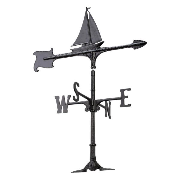 30 in. Cast Aluminum Sailboat Weathervane