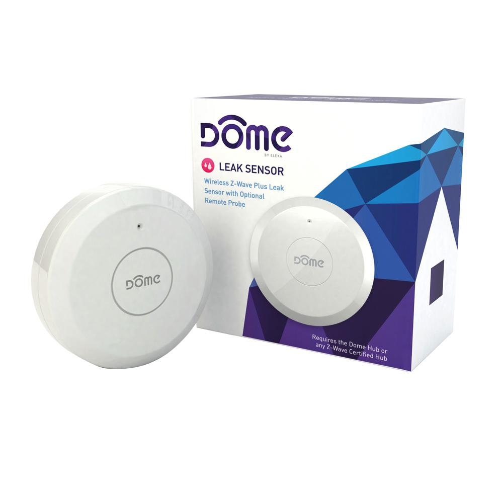 Dome Wireless Z-Wave Plus Leak Sensor with Remote Probe Water Resistant