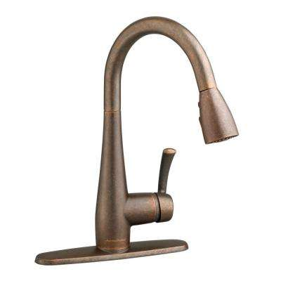 Quince Single-Handle Pull-Down Sprayer Kitchen Faucet in Oil Rubbed Bronze