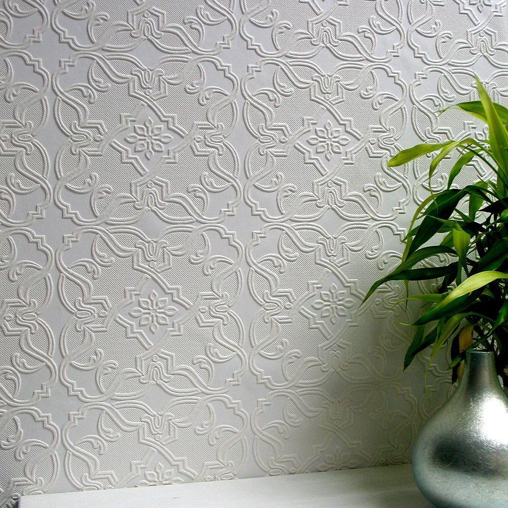Anaglypta Maxwell Paintable Textured Vinyl Wallpaper ...