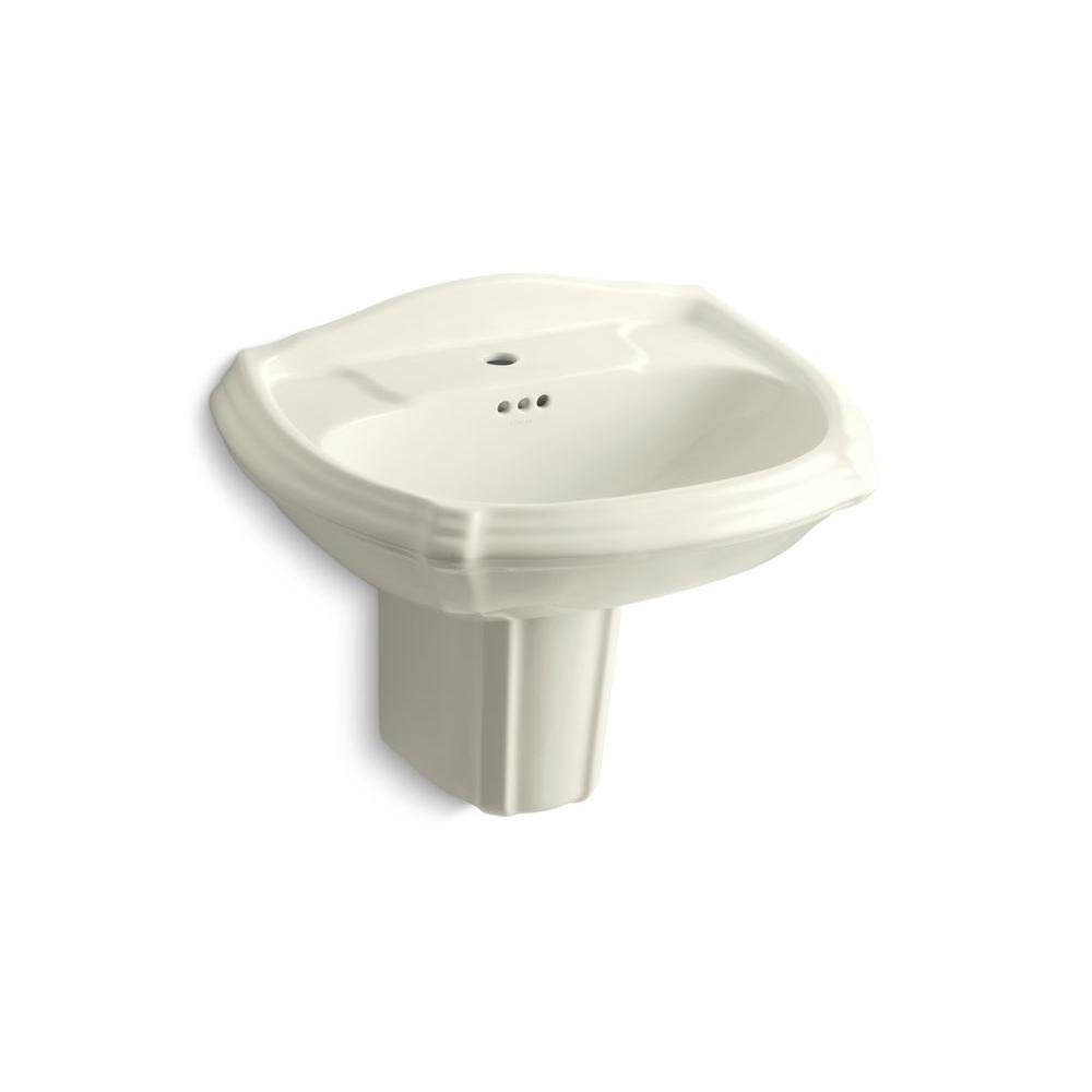 KOHLER Portrait Wall-Mount Bathroom Sink in Biscuit-DISCONTINUED