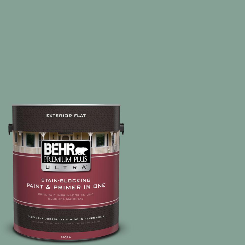 BEHR Premium Plus Ultra 1-gal. #S420-4 Australian Jade Flat Exterior Paint