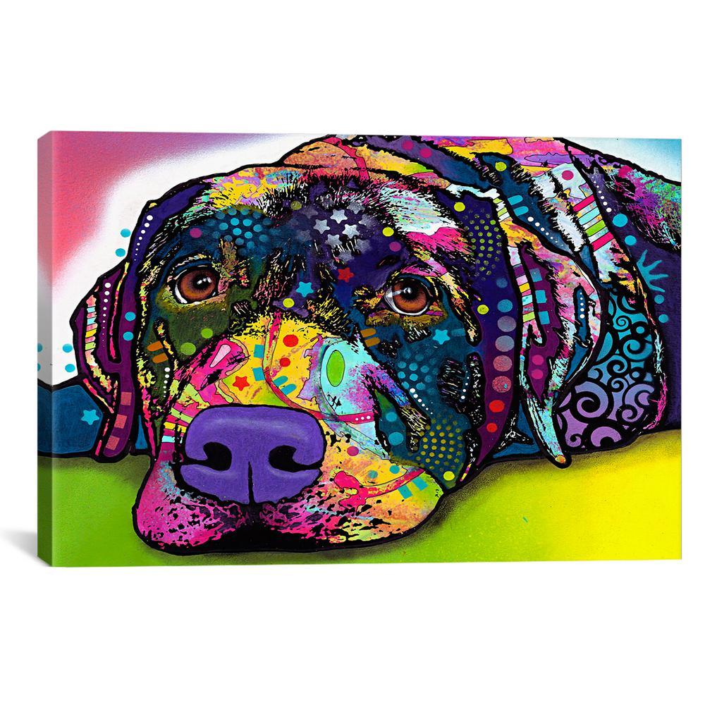 Savvy Labrador by Dean Russo Canvas Wall Art