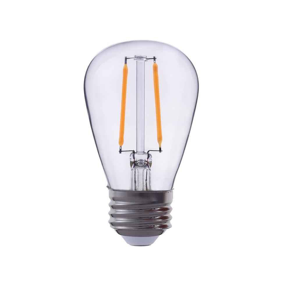25-Watt Equivalent S14 Clear Glass Filament LED Light Bulb Warm White 2700K
