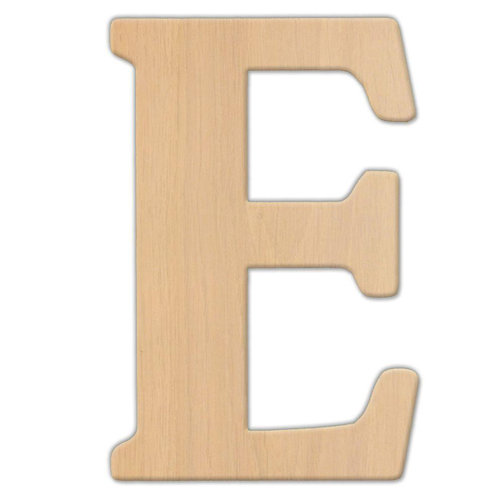 Jeff McWilliams Designs 15 in. Oversized Unfinished Wood Letter (E