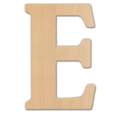 15 in. Oversized Unfinished Wood Letter (E)