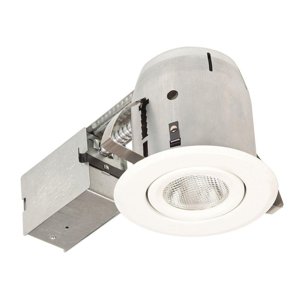 Globe Electric 5 in. White Recessed Light Fixture