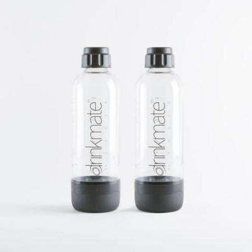 1 l Carbonating Bottles in Black (2-Pack)