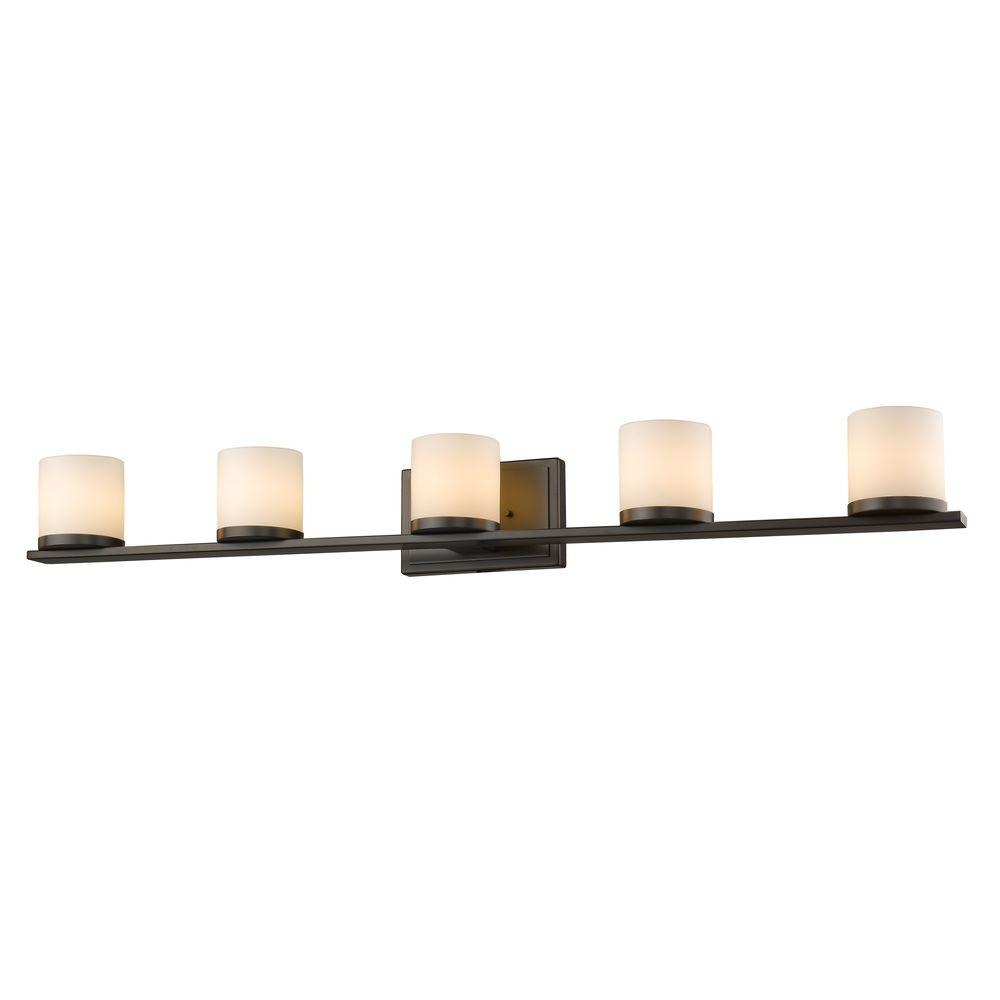 Filament Design Vanity Lighting : Filament Design Kariya 5-Light Bronze Bath Vanity Light-CLI-JB039214 - The Home Depot
