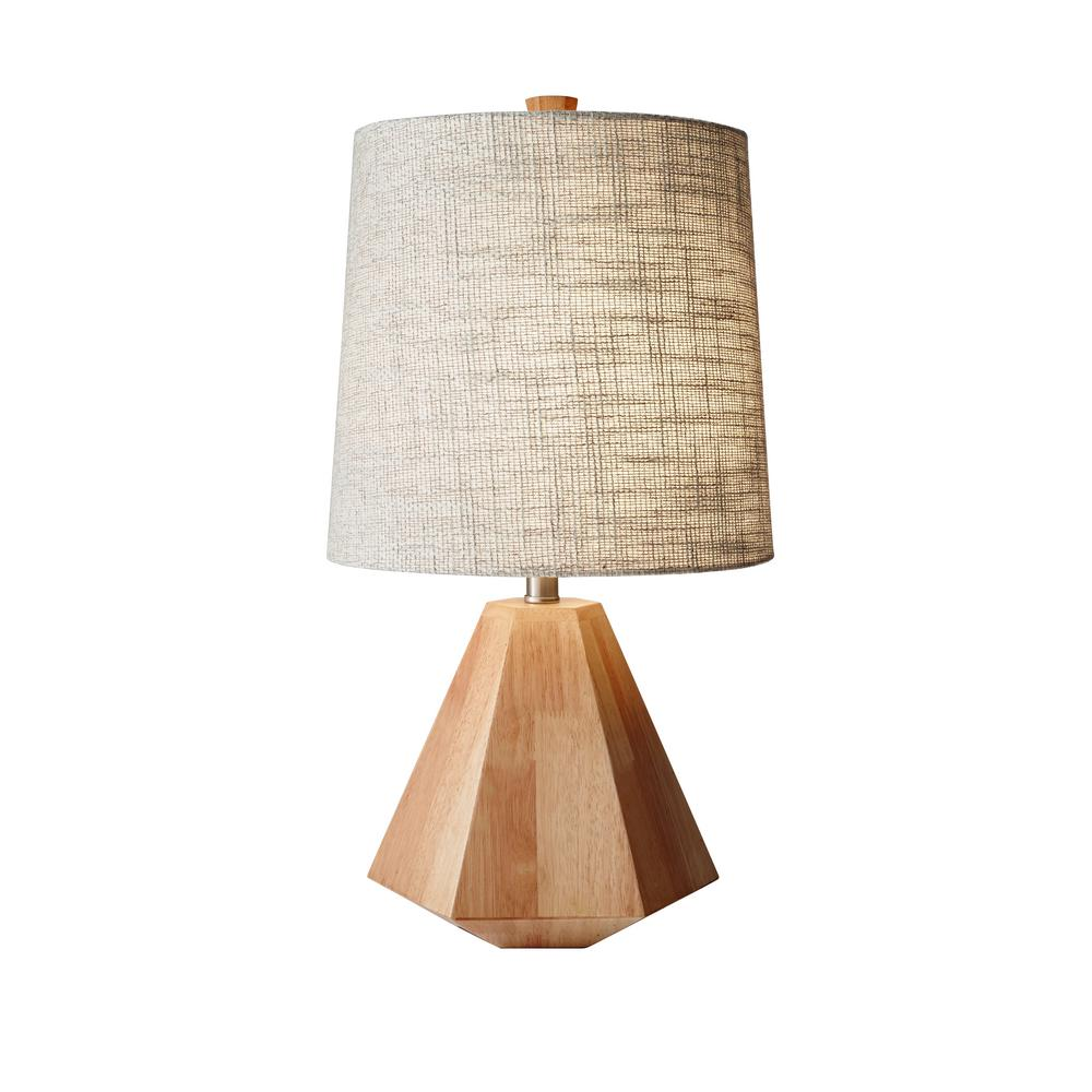 Adesso grayson 25 in beige table lamp 1508 12 the home depot beige table lamp aloadofball Gallery