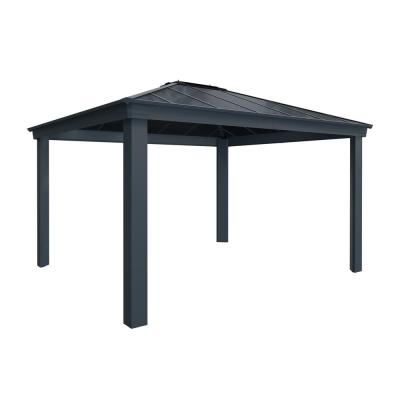 Dallas 4300 12 ft. x 14 ft. Aluminum Hardtop Gazebo with Insulating and Sleek Roof Design