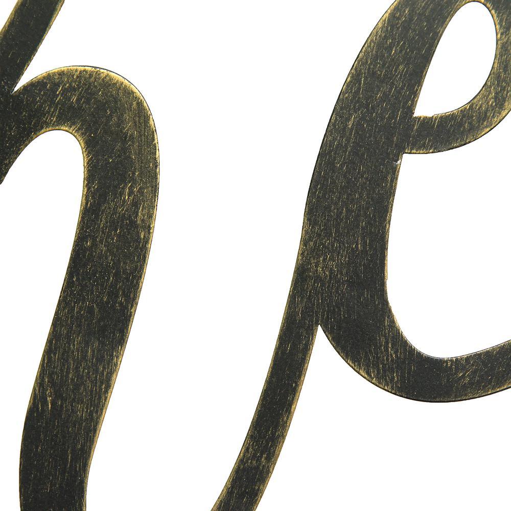 Stratton Home Decor Black Gather Script Decorative Sign Wall Decor S09590 The Home Depot