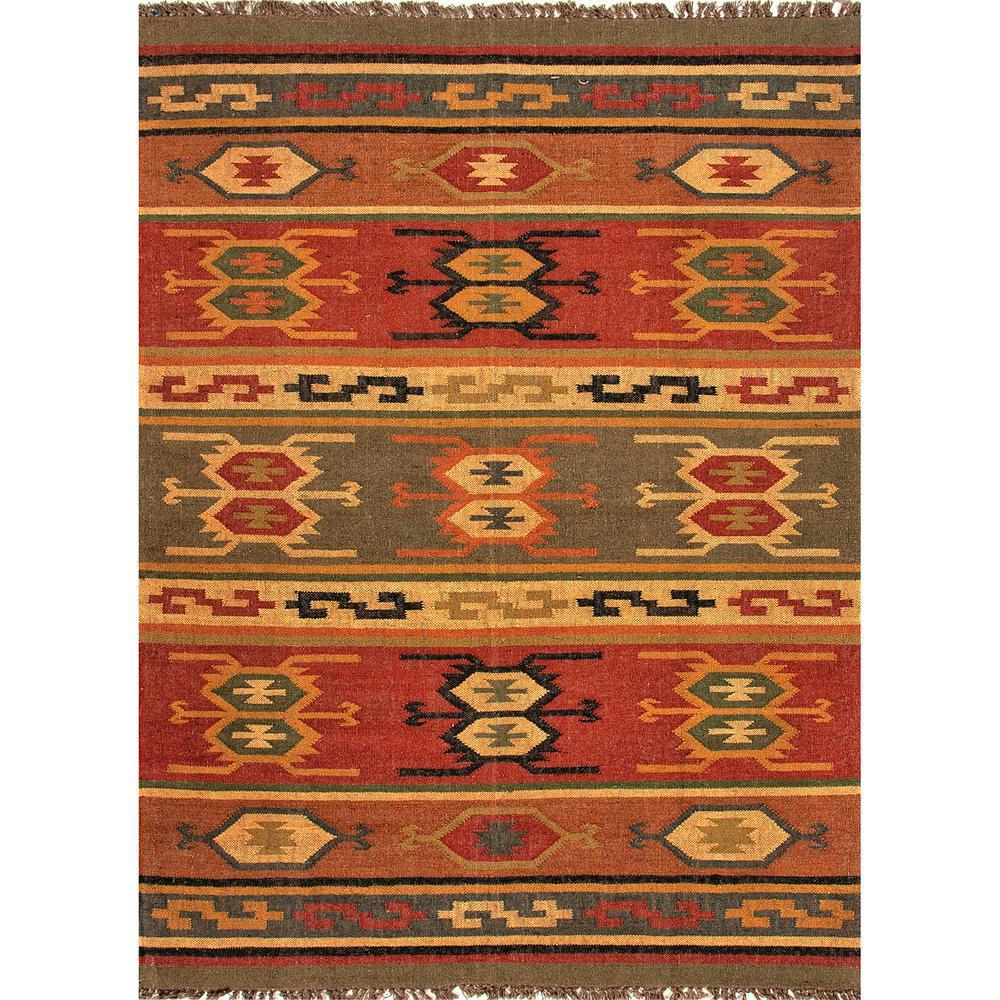 Flat Weave Cardinal 5 Ft X 8 Tribal Area Rug