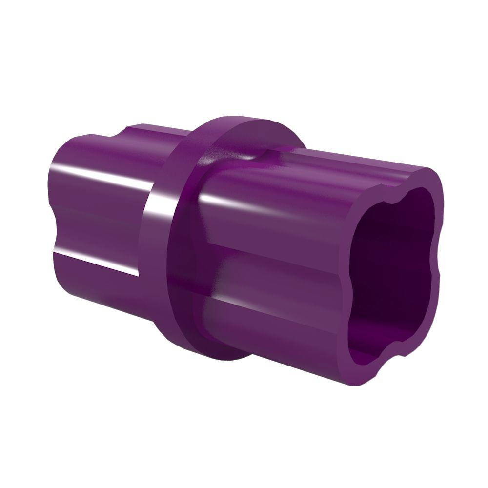 1-1/4 in. Furniture Grade PVC Sch. 40 Internal Coupling in Purple