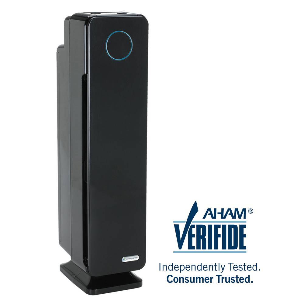 GermGuardian Elite 4-in-1 True HEPA Air Purifier with UV Sanitizer and Odor Reduction, 28 in. Digital Tower