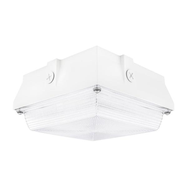 150-Watt Equivalent White Integrated Outdoor LED Security Light, 2200 Lumens, Ceiling/Canopy Security Lighting