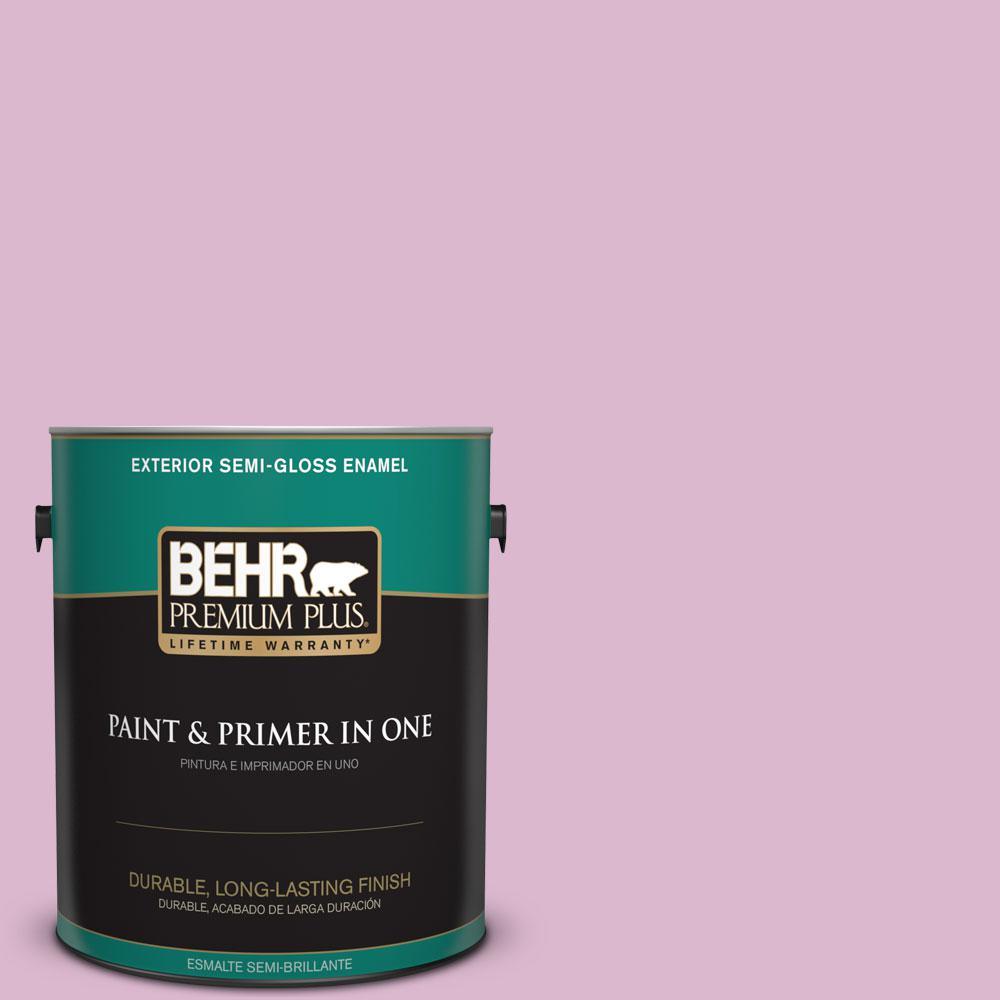 1-gal. #M120-3 Pink Wink Semi-Gloss Enamel Exterior Paint