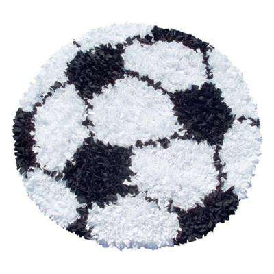 Sport Black 3 ft. x 3 ft. Indoor Round Area Rug