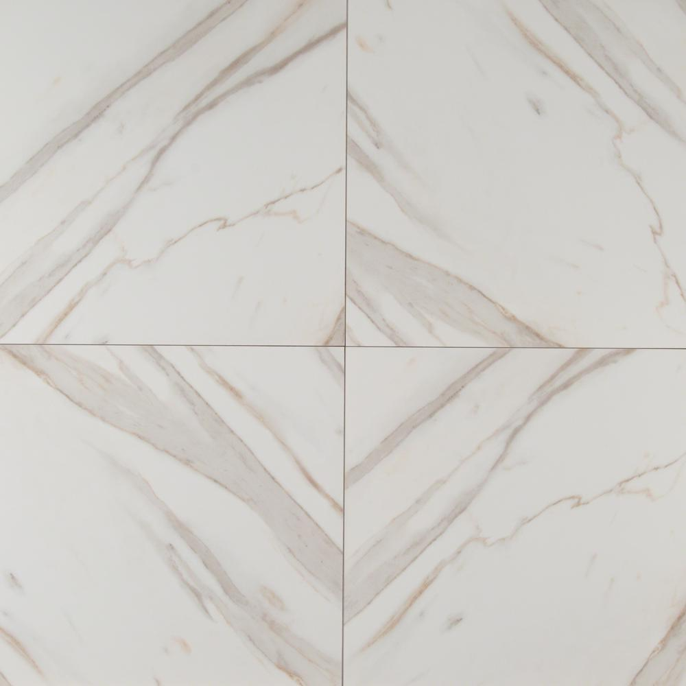 MSI Calcatta Ivory 18 in. x 18 in. Polished Porcelain Floor and Wall Tile (13.5 sq. ft. / case)