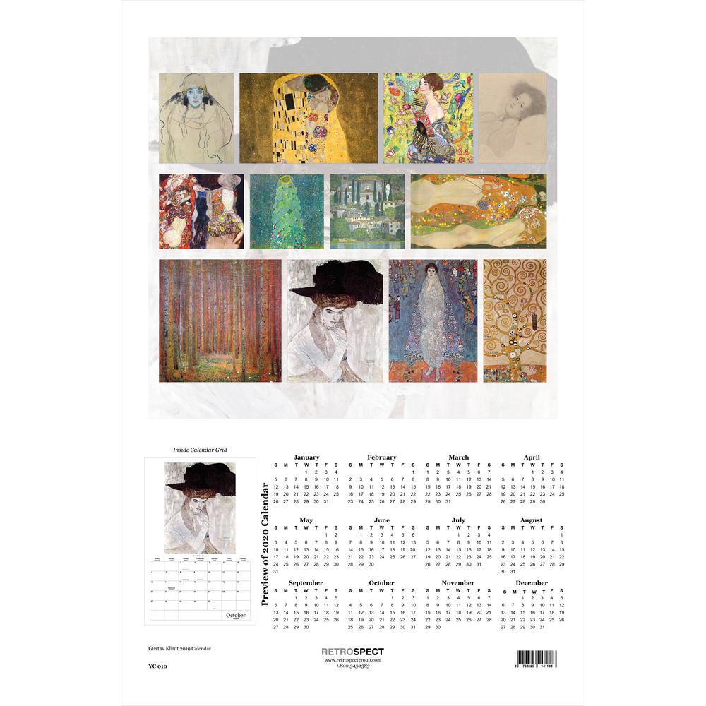 19 in. x 12.5 in. Gustav Klimt - 2019 Calendar