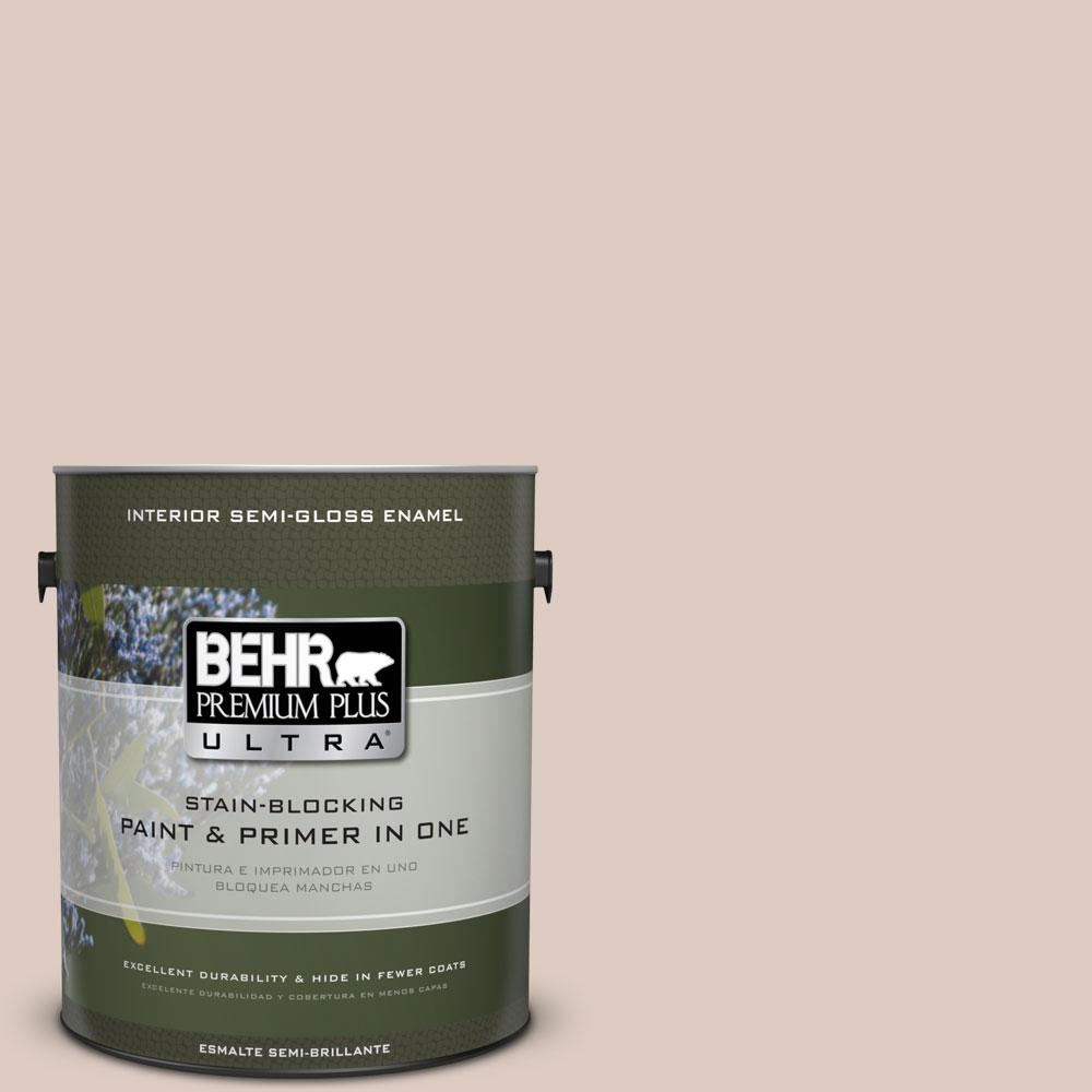 BEHR Premium Plus Ultra 1-gal. #N190-2 Stonewashed Brown Semi-Gloss Enamel Interior Paint