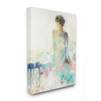 "24 in. x 30 in.""Soft Textured Figural Woman Portrait Painting"" by Artist Third and Wall Canvas Wall Art"