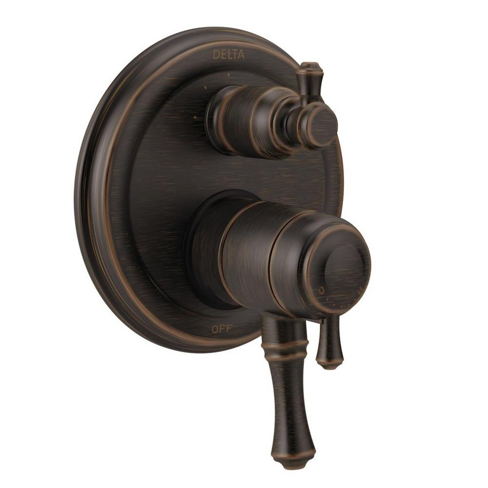 Cassidy 2-Handle Wall-Mount Valve Trim Kit with 3-Setting Integrated Diverter in