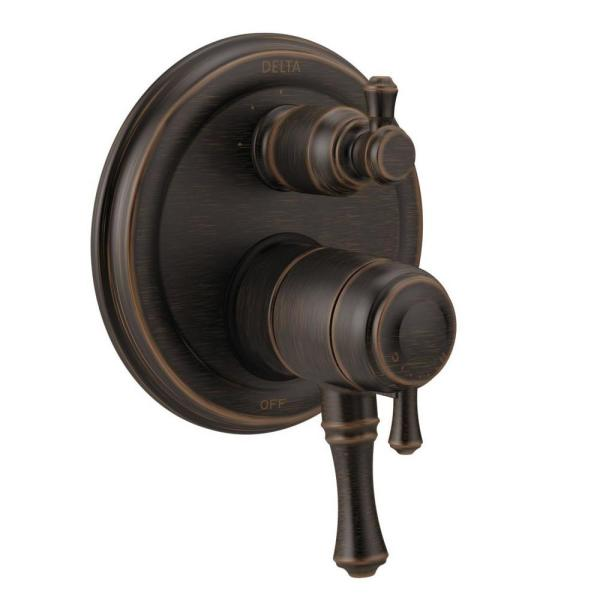 Cassidy 2-Handle Wall-Mount Valve Trim Kit with 3-Setting Integrated Diverter in Venetian Bronze (Valve Not Included)
