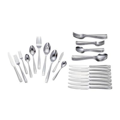 Lora 45-Piece Stainless Steel Flatware Set (Service for 8)