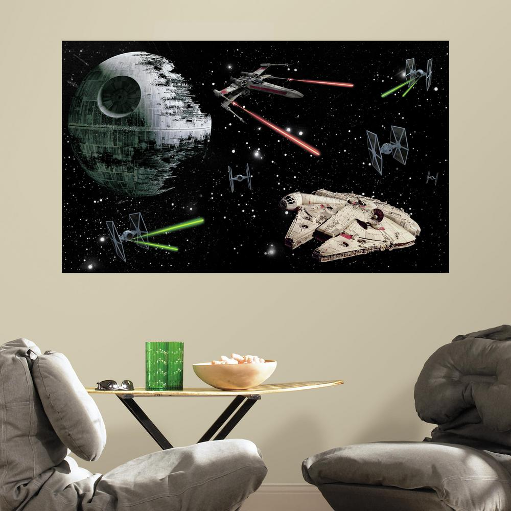 60 in. W x 36 in. H Star Wars 2- Piece