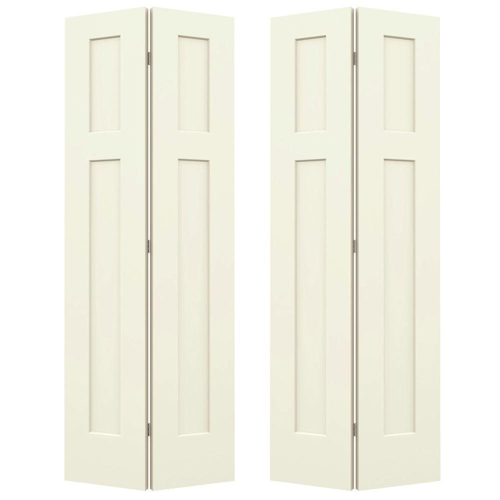 Jeld Wen 36 In X 80 In Craftsman Vanilla Painted Smooth