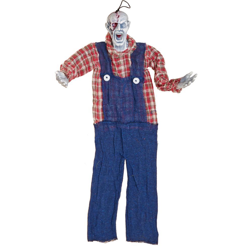 34 in. Halloween Hanging Farmer