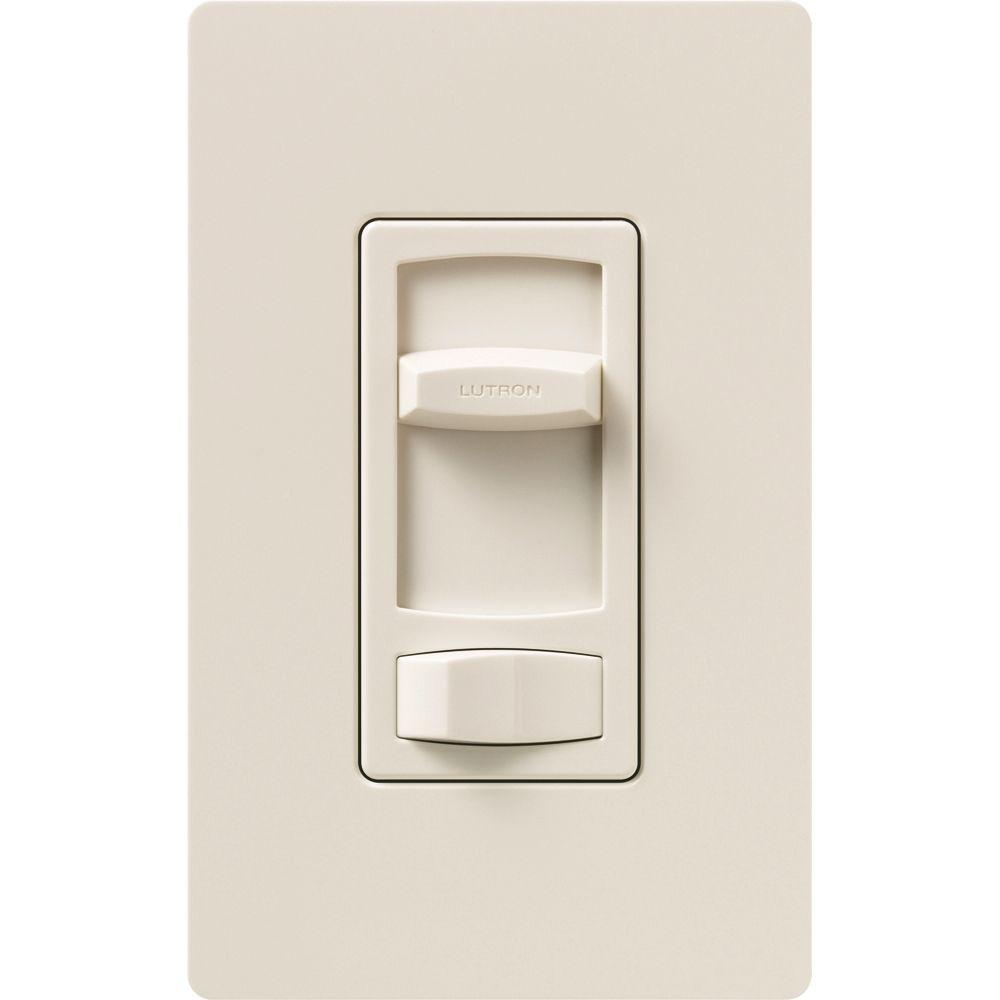 Lutron Skylark Contour 600-Watt Single-Pole/3-Way Preset Eco-Dimmer - Light Almond