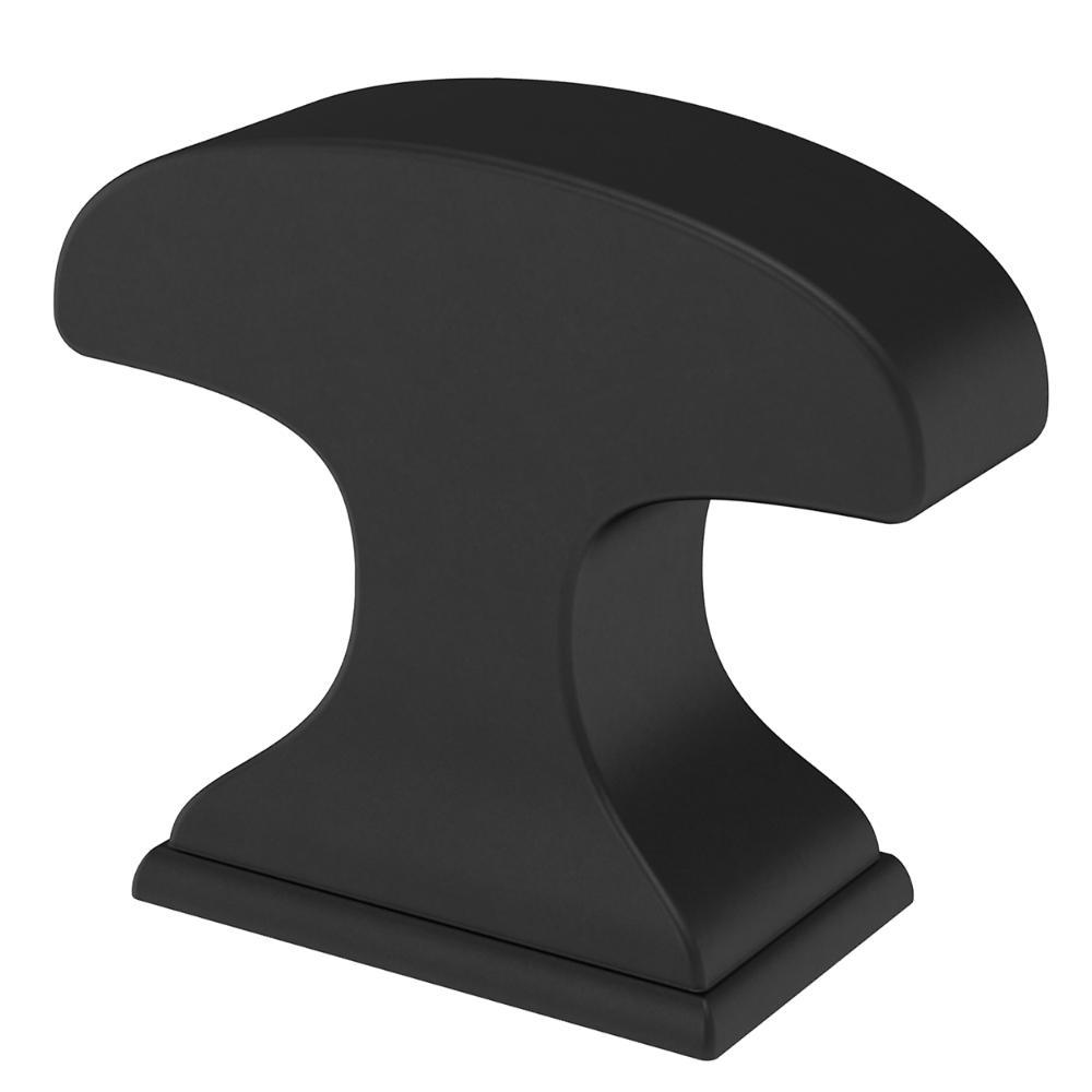 Classic Edge 1-3/8in. (35mm) Matte Black Rectangular Cabinet Knob